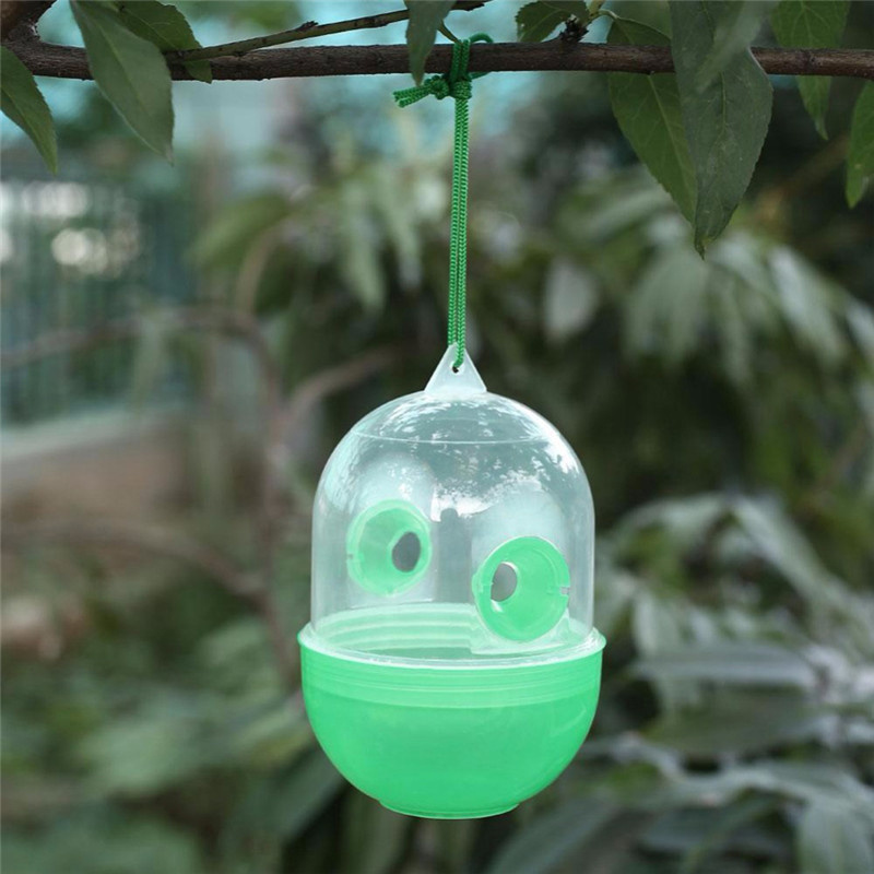 Bee Trapper Pest Repeller Insect Killer Pest Reject Insects Flies Hornet Trap Catcher Hanging on Tree Garden Tools DropShipping(China)