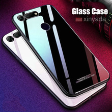 luxury Tempered Glass Cover Case For huawei Honor V20 V10 Case soft Silicone edge Shell ar