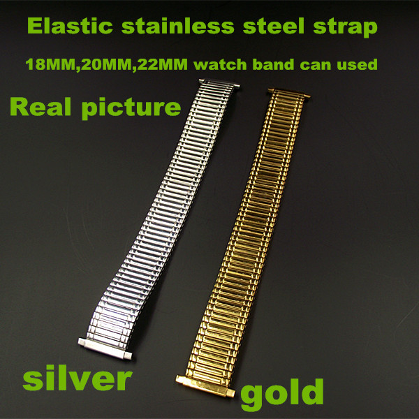 Wholesale 20PCS lots High quality Elastic stainless steel strap 18MM 20MM 22MM watch band can used