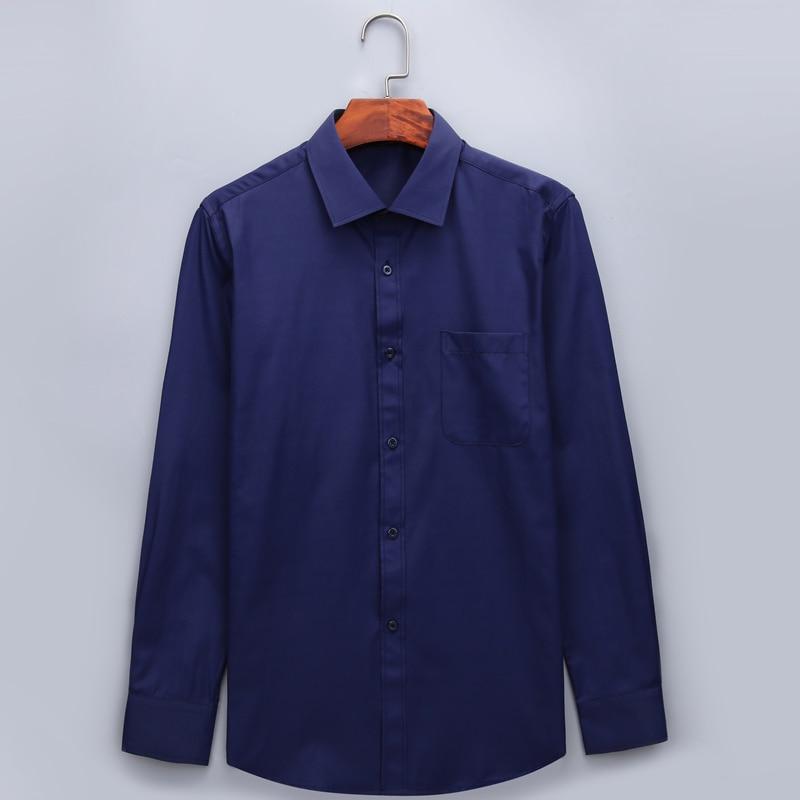 Plus Large Size 8XL 7XL 6XL 5XL Mens Business Casual Long Sleeved Shirt Classic White Black Dark Blue Male Social Dress Shirts 2