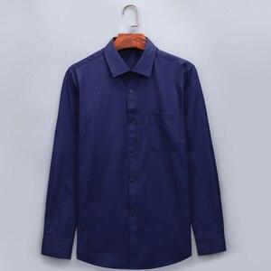 Image 2 - בתוספת גודל גדול 8XL 7XL 6XL 5XL Mens עסקים מקרית ארוך שרוולים חולצה קלאסי לבן שחור כהה כחול זכר חברתי שמלת חולצות