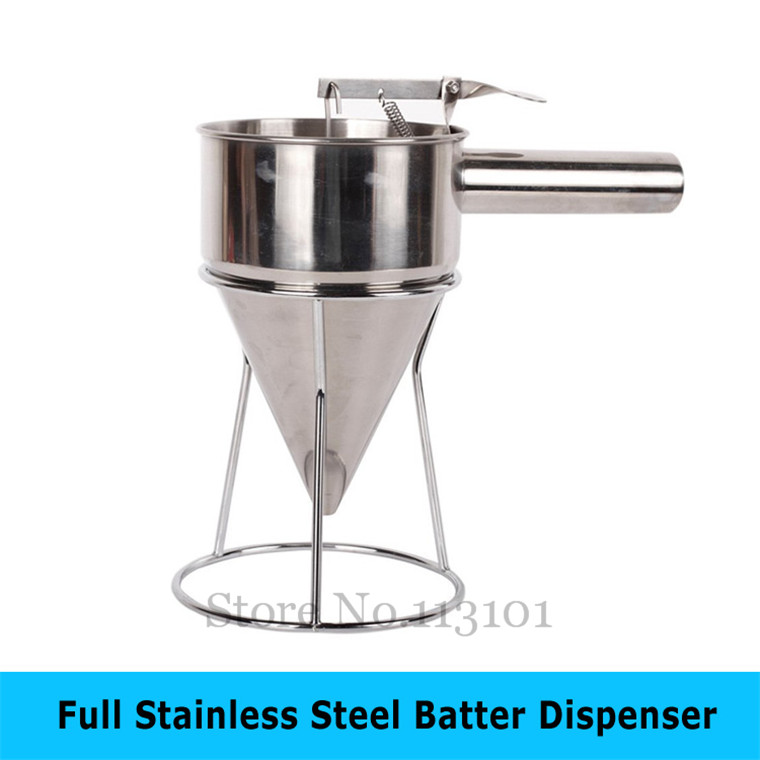 Stainless steel Food Tool Batter Dispenser taiyaki funnel waffle mixture dispenser takoyaki filler цена