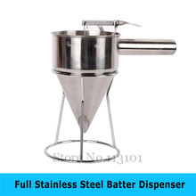 Stainless steel  Food Tool Batter Dispenser taiyaki funnel waffle mixture dispenser takoyaki filler jiqi octopus balls filler takoyaki stainless steel filling funnel manual waffle batter separator chocolate cream baked hopper
