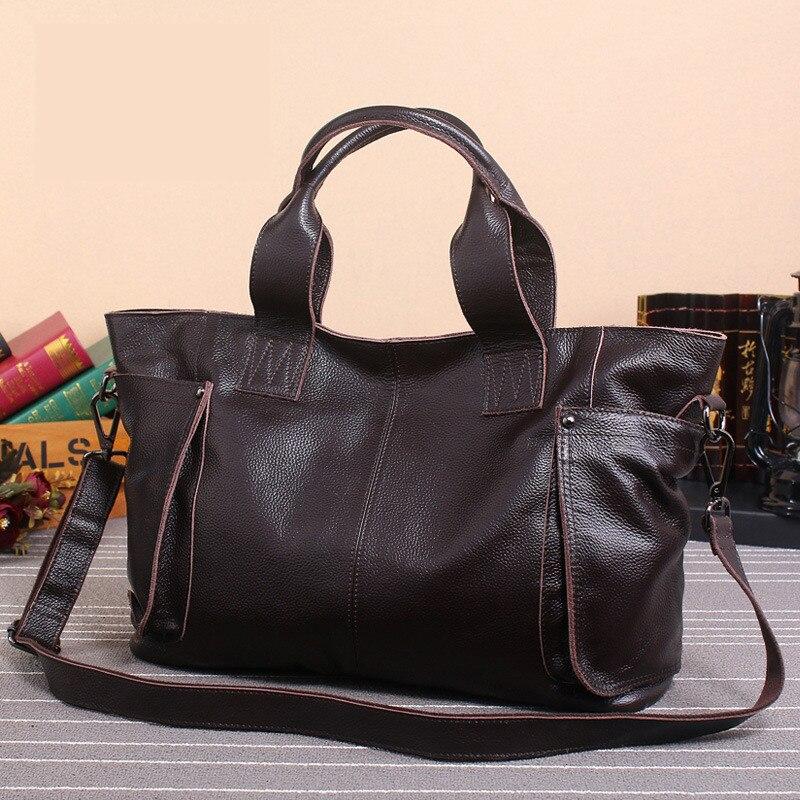 brown Emballages Main Femmes Black Grande Vintage Occasionnels Véritable Capacité Marque Cuir Sacs Luxe En À Bao Sac De Pyaterochka XRqFUZwq