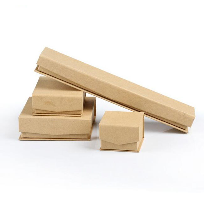 Kraft Paper Box for Ring Necklace Packaging Wholesale 50pcs/lot Free Shipping Magnetic Jewelry Box for Earring 5*5*3.7cm