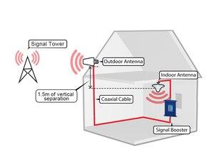 Image 5 - Lintratek 70dB רווח 4G מגבר אות להקת 12 + להקת 17 כפולה LTE 700 MHz טלפון נייד אות Rpeater 4G רשת מגבר