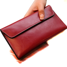 SUNNY BEACH famous brand Genuine Leather women wallet purse