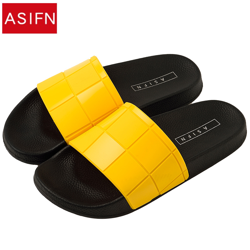 94cc1a5576e Detail Feedback Questions about ASIFN Women Men Slippers Mosaic Lattice  Slides Fashion Type Couple Beach Shoes Home Summer Zapatos Mujer Flip Flops  on ...