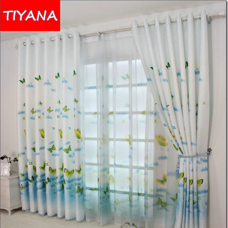 Online Get Cheap Window Butterfly Curtain For Kids Bedroom