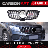 W166 W292 GT grille for mercedes GLE class SUV GT R front bumper racing grille for GLE coupe GLE300 GLE400 GLE450 fashion design