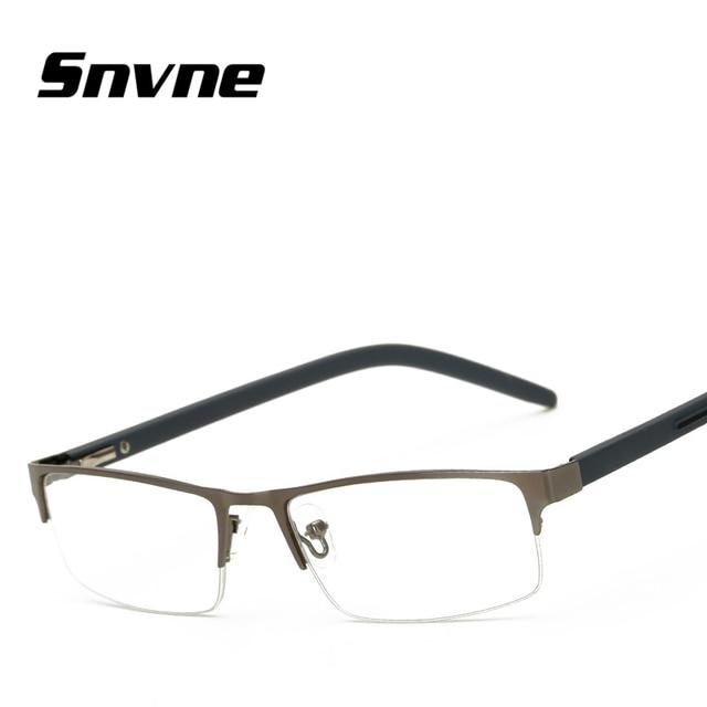 4584525704 Snvne Reading glasses Fashion square half frame metal frame for old men old  women presbyopic glasses KK12