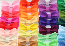 120pcs lot New Arrival Tiny Felt Bows Without Clip Hair Accessories Clothing Accessories Hair Flowers Free