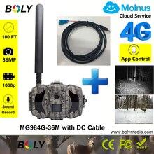 Кабель постоянного тока плюс BolyGuard trail камеры 100ft 4 г охотничьи камеры MMS GPRS фото ловушка облачный сервис Molnus за исключением Северной Америки