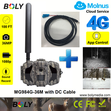 hunting camera 4g Bolyguard night vision no glow light 940nm infrared photo traps plus a DC Cable cellular trail lte