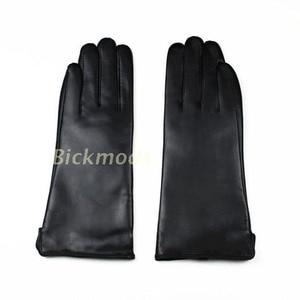 Image 3 - Nowe rękawice z owczej skóry damskie w prostym stylu wełniana podszewka kolor ciepłe, jesienne i zimowe damskie skórzane mitenki darmowa wysyłka