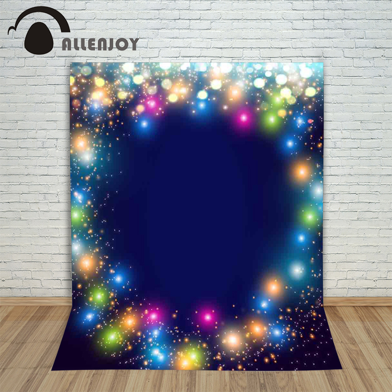 Allenjoy backdrops for photo thin vinyl Light Christmas blur color Background photography photocall camera