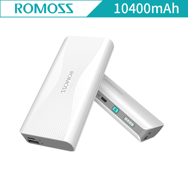 ROMOSS Sense4+ Power Bank 10400mAh QC3.0 PD3.0 External Battery For iPhoneX Type C Two way Quick Charge for Sumsang Sense4+