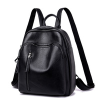 Women;s Backpack Leather Women Bags Small College Daypack School Bags For Teenagers Girls Casual Preppy Black Backpacks Rucksack