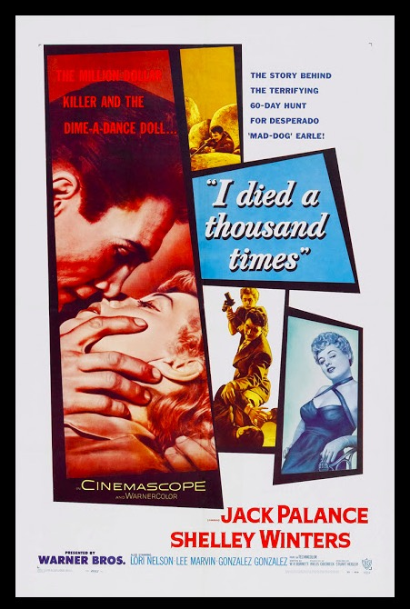 I Died a Thousand Times Sexy Classic Movie Film Noir Retro Vintage Poster Canvas Painting DIY Wall Paper Home Decor Gift image