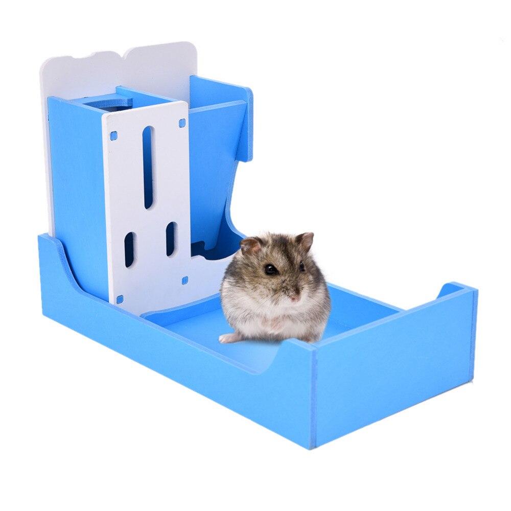 funktion 3 i 1 lille dyr dyre rack dyrefoder feeder multi colorsdrinking / mad / toilet rack til hamster / chinchillaer / marsvin