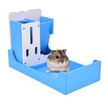 function 3 in 1 Small Pet Animal Rack Pet food feeder multi colorsDrinking/Food/Toilet Rack for Hamster/Chinchillas/Guinea Pigs