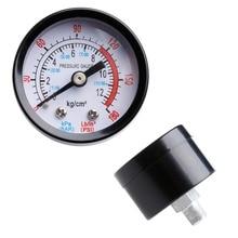 Air Compressor Pneumatic Hydraulic Fluid Pressure Gauge 0-12Bar 0-180PSI 1pc air compressor pressure switch valve 180pis 12bar adjustable air regulator valves with gauge