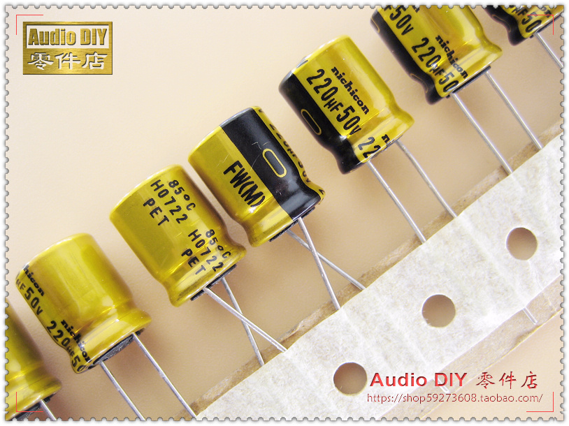 2018 hot sale 30PCS Nichicon FW series 220uF/50V electrolytic capacitors for audio free shipping