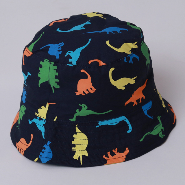 1-4Y New Children Baby Hat Boy Sun Hats Spring Summer Caps Cotton Bucket Hat  Baby Kids Boy Dinosaurs Printed Cap DW986621 83b749da69ae