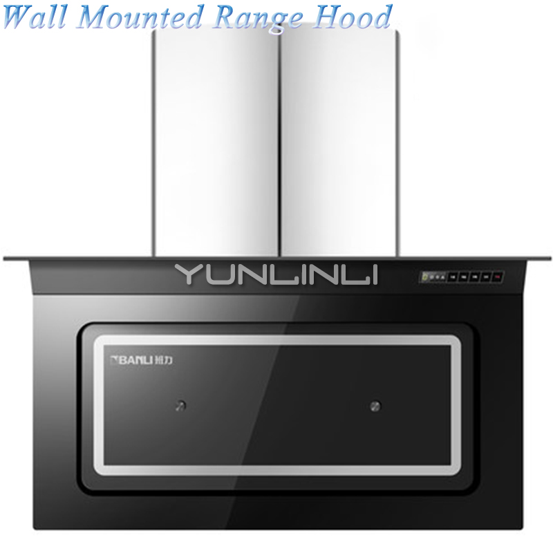 Wall Mounted Large Suction Machine Range Hood Household Ventilator Double Rotor Auto Cleaning Side Suction Kitchen CXW-198-L910