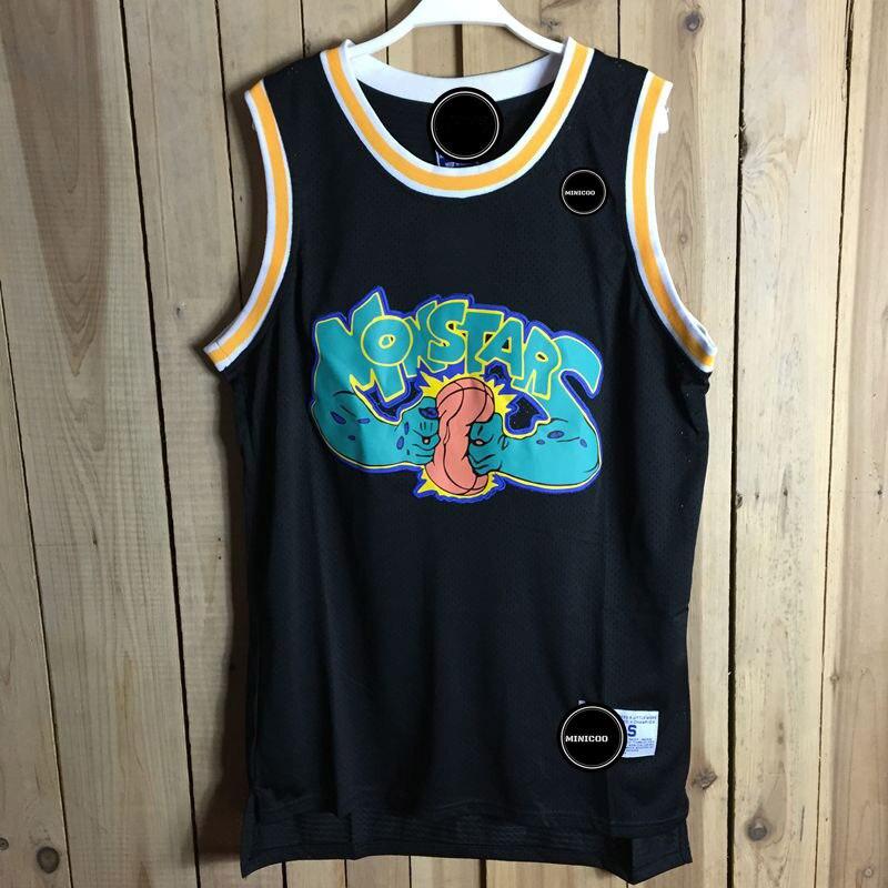 Айверсон Для мужчин Баскетбол Джерси пространство Варенье Oldschool #0 Баскетбол рубашка мультфильм черный спортивный жилет Вышивка Джерси Ба... ...