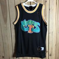 Iverson Men Basketball Jersey Space Jam OLDSCHOOL 0 Basketball Shirt Cartoon Black Sport Vest Embroidery Jersey