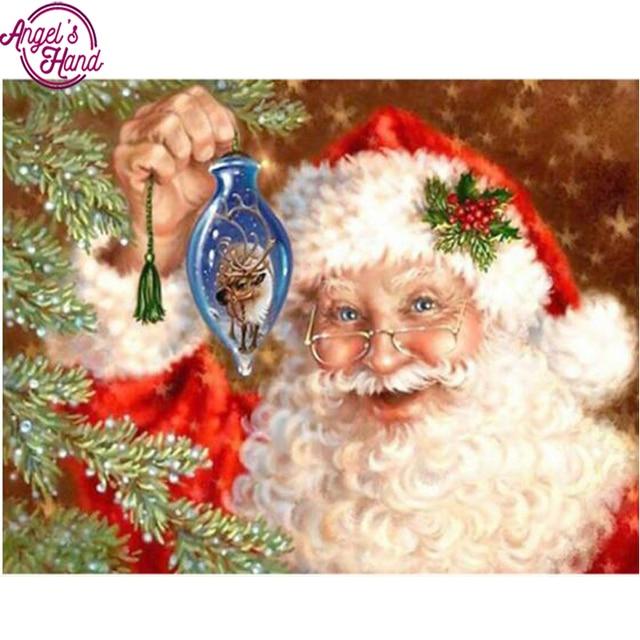 e3949eeaf49c2 New year home decor diy diamond embroidery square cross-stitch diamond  painting Santa Claus needlework