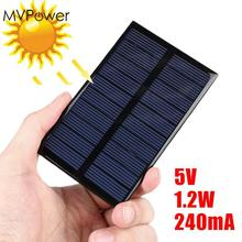 MVpower 5V 1.2W 240mA Solar Panel Cell DIY Sunpower Solar Module Polycrystalline Silicon DIY Solar System Cells Battery Charger