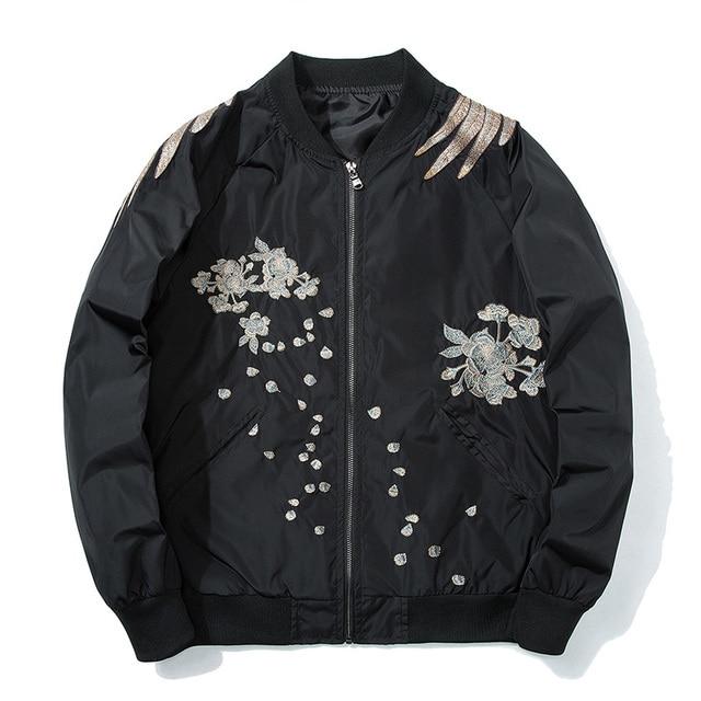 Aelfric Eden 2018 Spring High Street Phoenix Embroidery Jacket Coat Plus Size Casual Outwear Hip Hop Bomber Jackets XS-XXXL LQ05 4