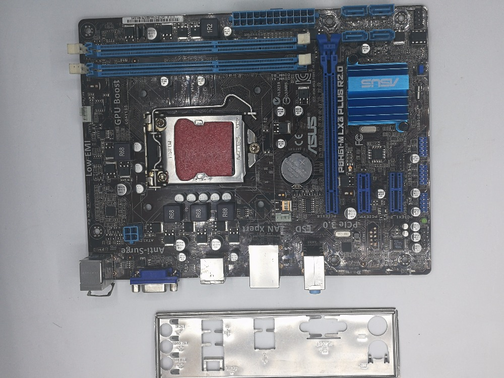 Used,for Asus P8H61-M LX3 PLUS R2.0 Desktop Motherboard H61 Socket LGA 1155 i3 i5 i7 DDR3 16G цена