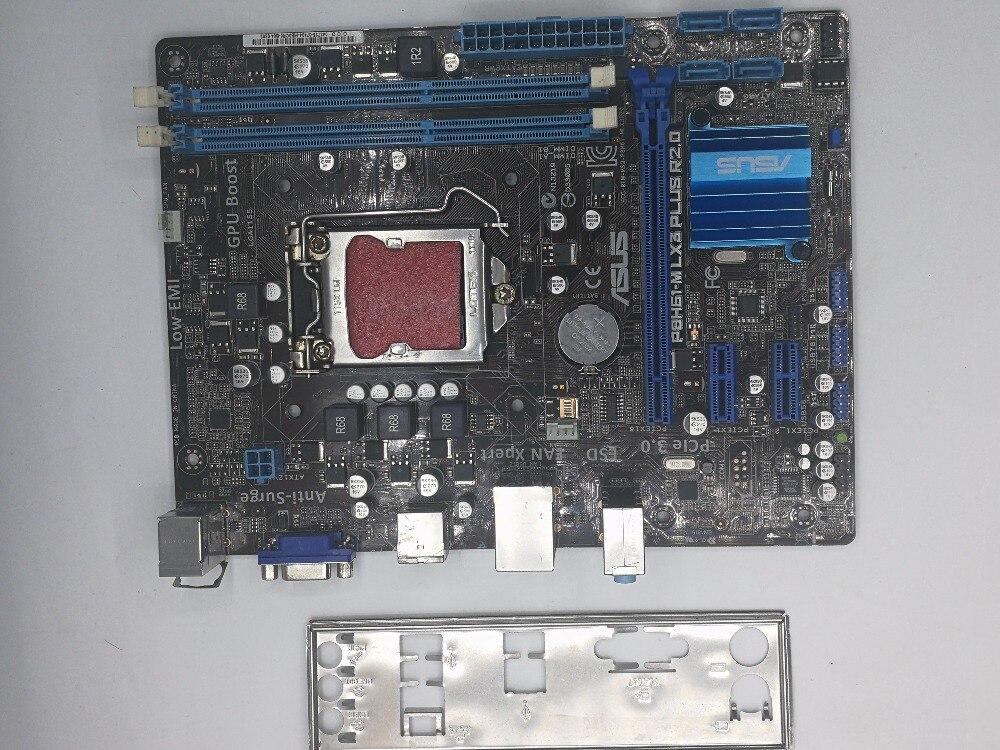 Utilisé, pour Asus P8H61-M LX3 PLUS R2.0 De Bureau Carte Mère H61 Socket LGA 1155 i3 i5 i7 DDR3 16G