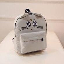 Женские парусиновые рюкзаки кошка глаз животных печати школьные сумки для девочек-подростков рюкзак ноутбук Bagpack LXX9