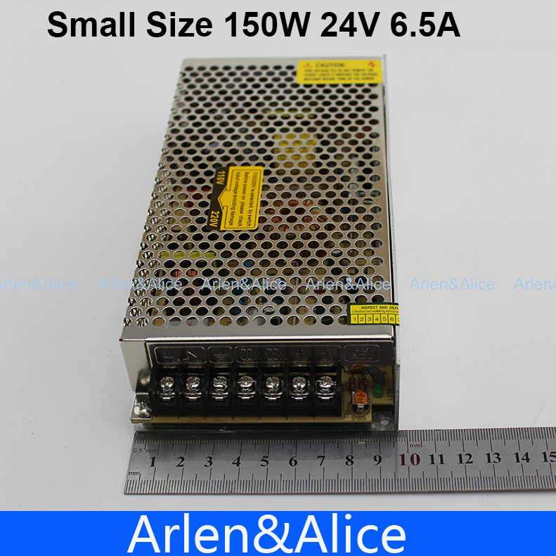 150W 24V 6.5A Small Volume Single Output Switching power supply for LED Strip light AC to DC
