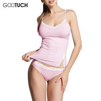 Womens cotton Pajama Sets Sleepwear Lace Trim Camis Top Sexy Lingerie Intimate Ladies Strap Nightwear Plus Size Piyamas 2526 4