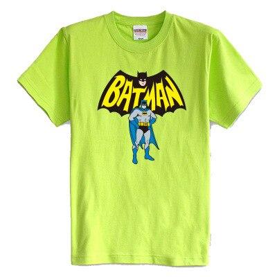 Детская футболка лето с коротким рукавом 100% хлопок девочка мальчик Бэтмен мультфильм 8 цветов дети тенниска