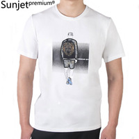 SUNJET PREMIUM Men's 2018 Summer Fun T Shirt Brand White Short Sleeve Men's Fashion Print T Shirt YK8289
