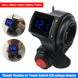 Finger Thumb Throttle Electric Scooter with Power Switch LED display Switch Handlebar Grips For Electric Bike 36V/48/60/72V