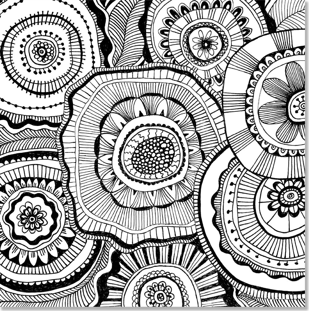 Doodle Designs Artist\'s Coloring Book (31 stress relieving designs ...