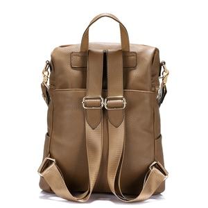 Image 4 - LOVEVOOK 십대 소녀를위한 여성 배낭 학교 배낭 여성용 대용량 어깨 가방 2020 vintage nubuck leather PU