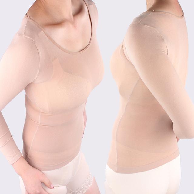 Envío libre de la danza de Color camisa apretada ropa interior de manga larga gruesa caliente carne impermeables medias camisa delgada corrector medias