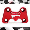 Para DUCATI MONSTER 696 2008-2014 de alumínio Da Motocicleta CNC billet guiador guiador 3D Logotipo Vermelho