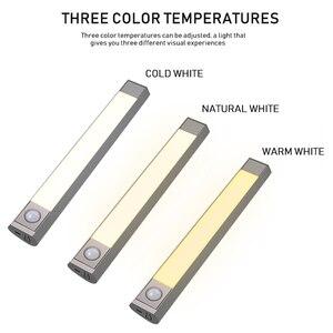 Image 2 - Lámpara inteligente Led con Sensor de movimiento, iluminación de tres modos de temperatura para armario, cocina