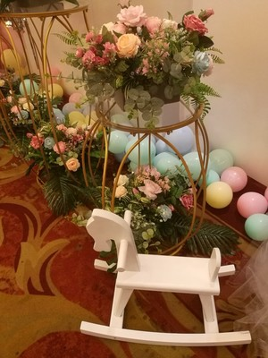 5 pièces table à dessert ronde porte vase à fleurs grand support de gâteau centres de table de mariage fête d'anniversaire gâteau cupcake table affichage - 6