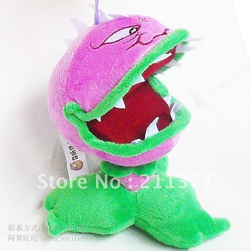 Free Shipping Plants Vs Zombies Open Mouth Chomper Plush Toy Baby Stuffed Doll Toy Kids Birthday