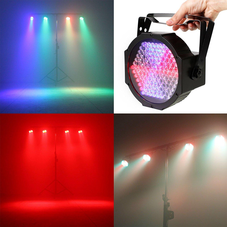 RGB LED -valot 127levyt ylösvalaistu DMX512: n ääniohjausvaiheen valaistus DJ Magic Show -juhlaan